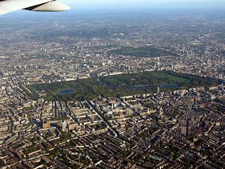 Centro de Londres visto desde el aire.