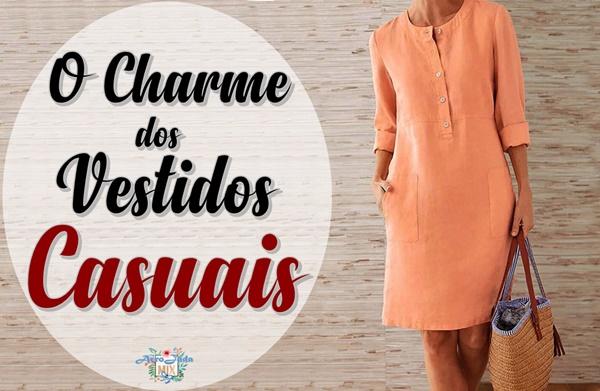 O Charme dos Vestidos Casuais
