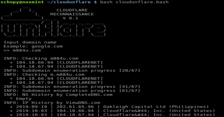 CloudUnflare : Reconnaissance Real IP Address for Cloudflare Bypass