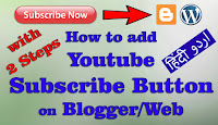 How to add YouTube Subscribe Button on Blogger/Web | With 2 Steps | Urdu/Hindi