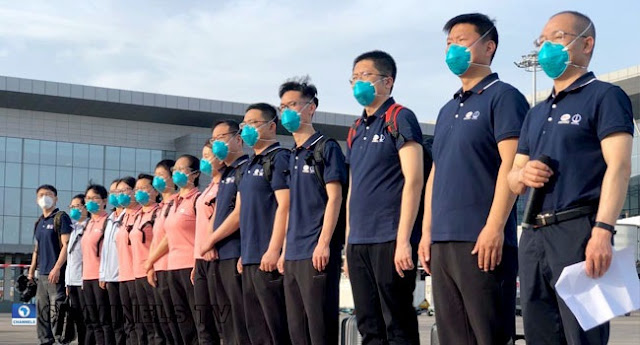 Breaking News: Chinese Medical Team Arrives In Nigeria (Photos)