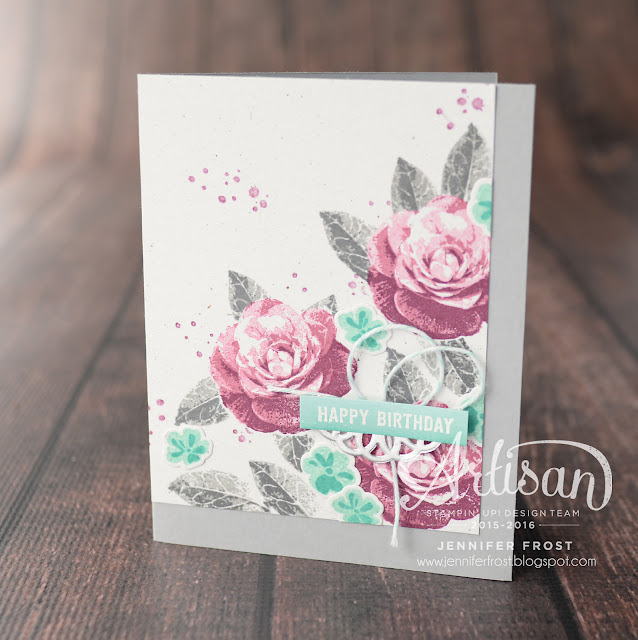 TGIFc66, Stampin' Up!, Picture Perfect, Jar of Love, Timeless Texture, Confetti Celebrations, Happy Birthday card by Jennifer Frost