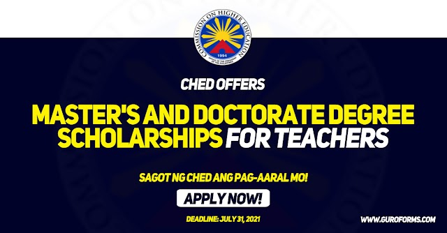 CHED Offers Master's And Doctorate Degree Scholarships For Teachers | Apply Now!