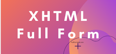 XHTML full meaning