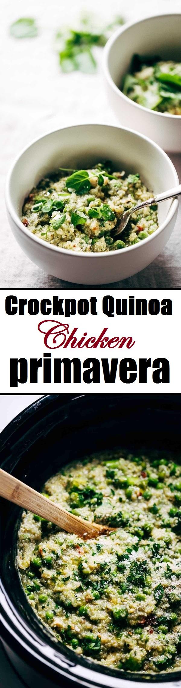 crockpot quinoa chicken primavera