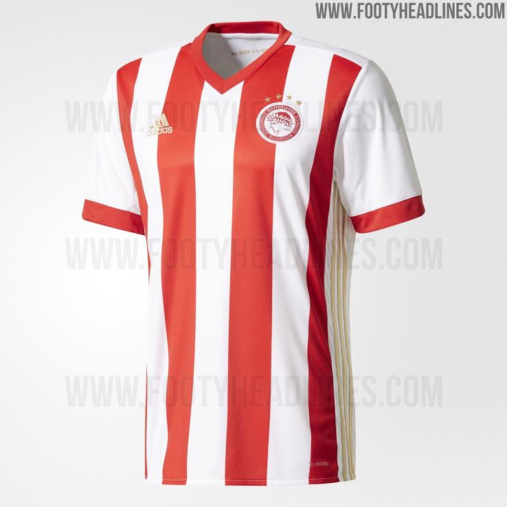 La segunda camiseta del Olympiacos 2017-2018 se basa en el modelo Tiro 17  teamwear 6d491e80d4d79