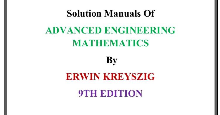 Erwin Kreyszig Pdf
