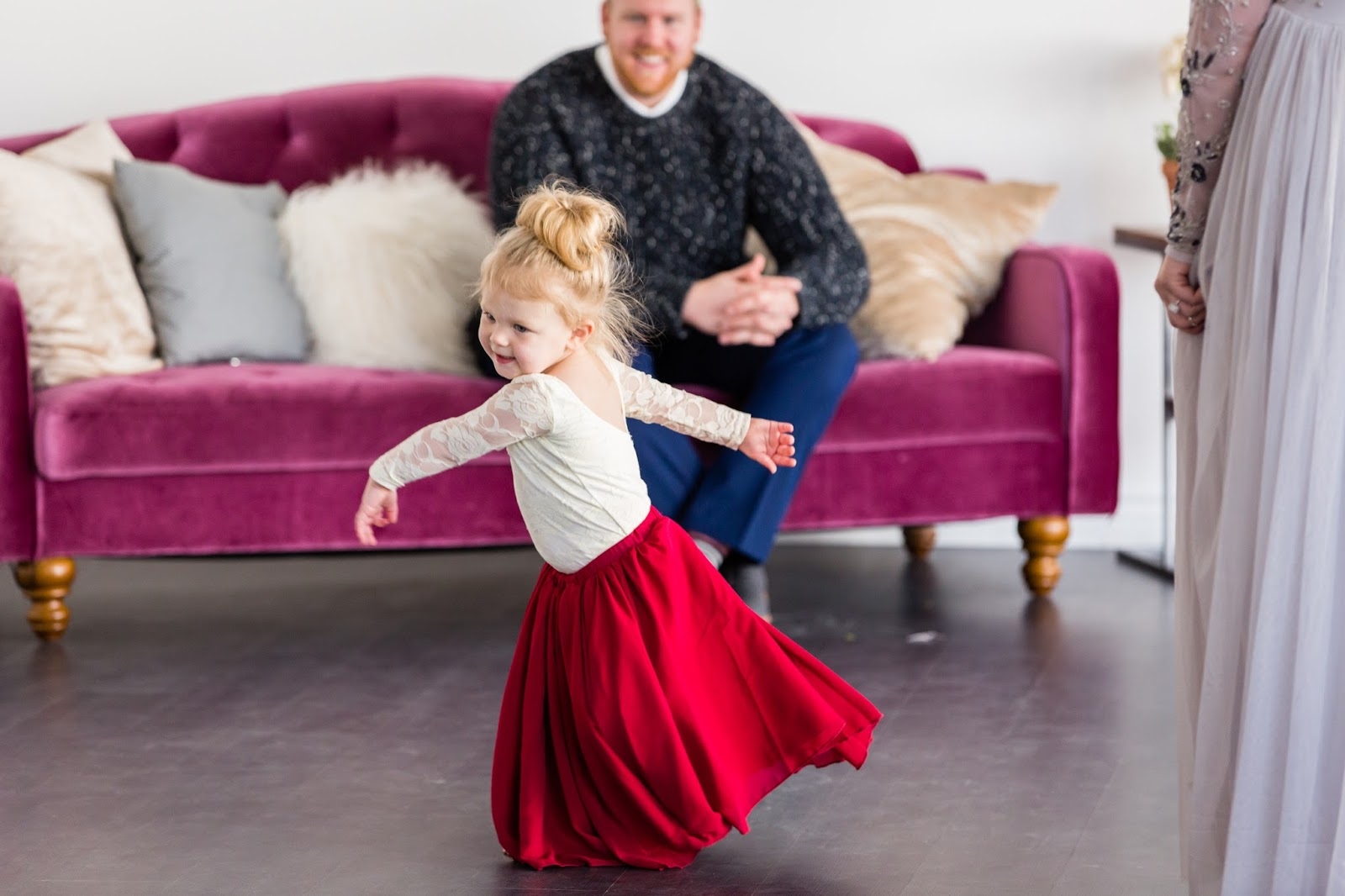 Toddler fashion, Utah blogger, maroon skirt