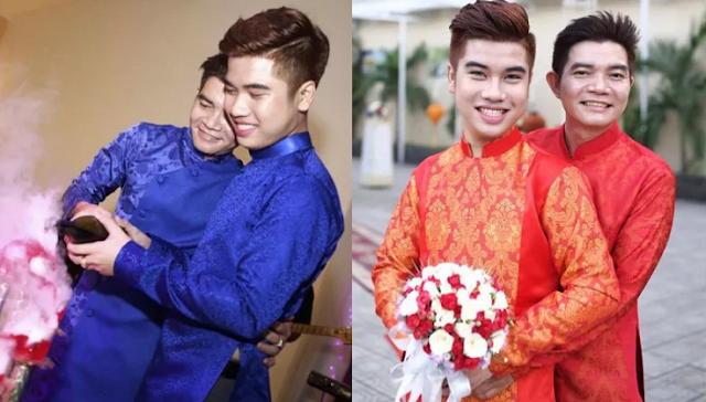Từng bị trêu là bố con, cặp đôi cách nhau 21 tuổi vẫn hạnh phúc nắm tay nhau trong đám cưới