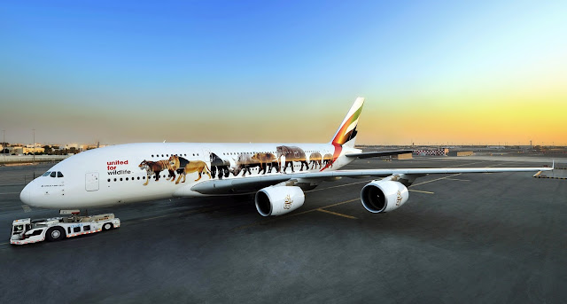 Emirates Airbus A380-800 Wildlife Special Livery