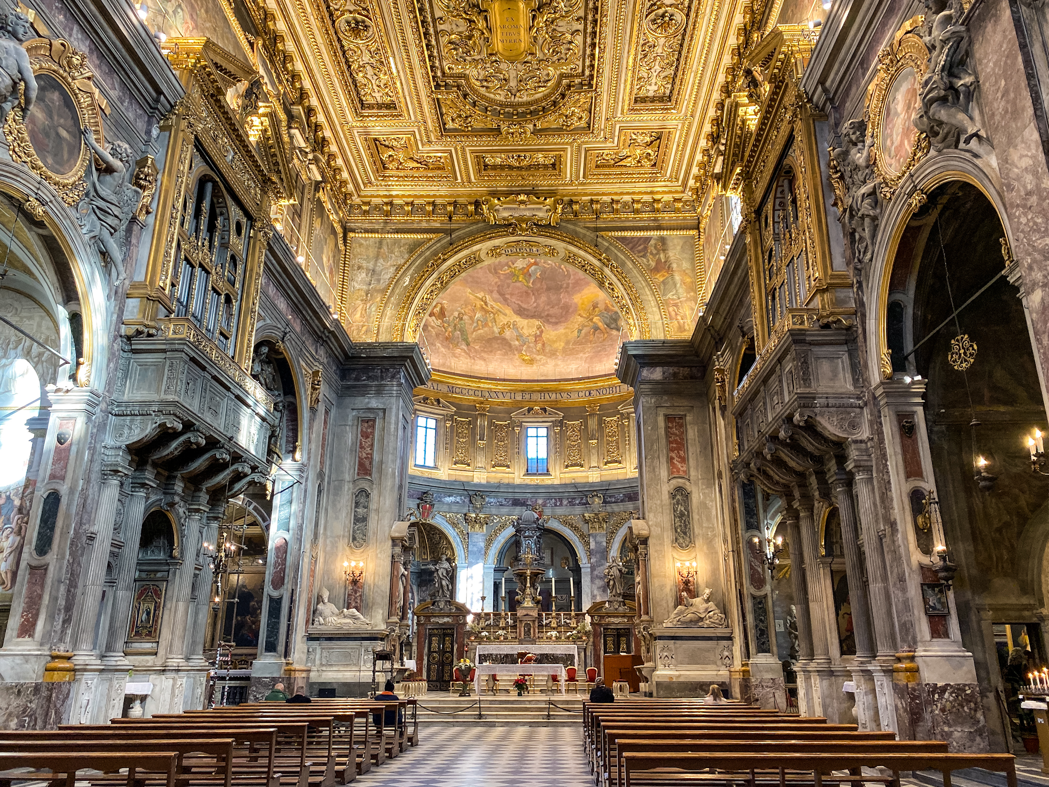 renaissance church, Basilica della Santissima Anunziata, florence italy, italian architecture, italian interior