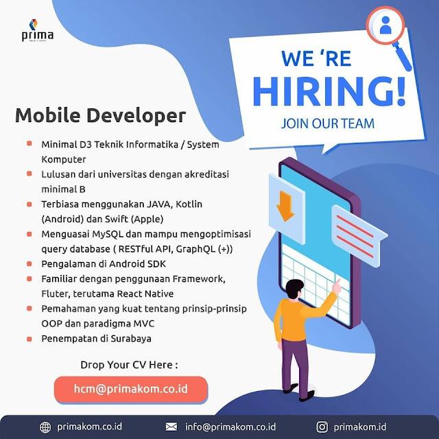 Lowongan Kerja Mobile Developer