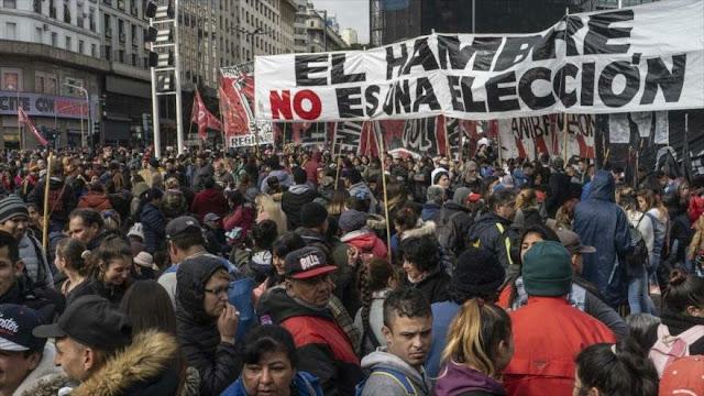 Nueva protesta en Argentina contra políticas de ajuste de Macri