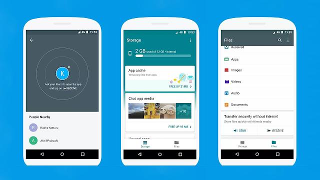 Files Go ese o nouă aplicație de la Google care va ajuta la transferul de fișiere și gestionarea memoriei telefonului