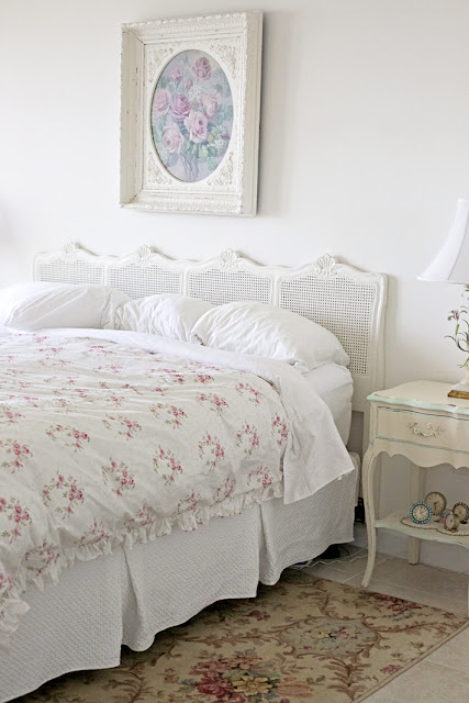 floral master bedroom decor