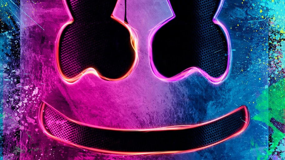 DJ, Marshmello, Neon, 4K, #4.181 Wallpaper