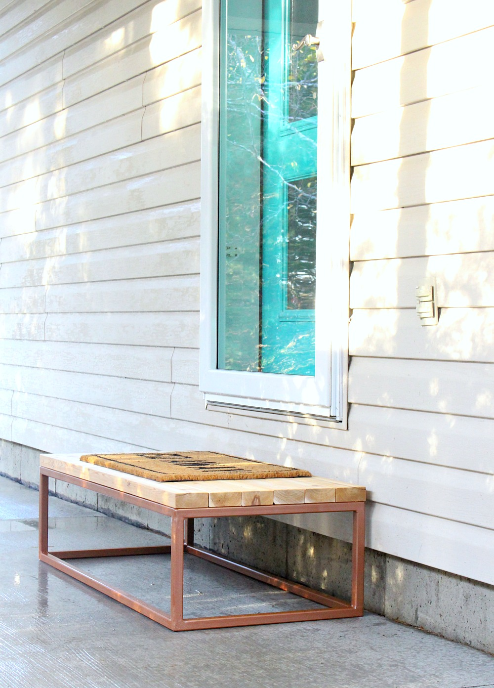 DIY Wood Step with Welded Base