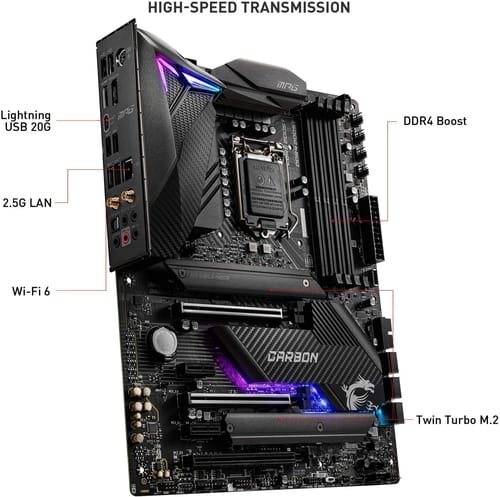 Review MSI MPG Z490 Gaming Carbon Motherboard