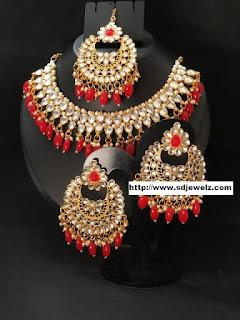Chandbali Kundan Jewellery Wholesale Cheap