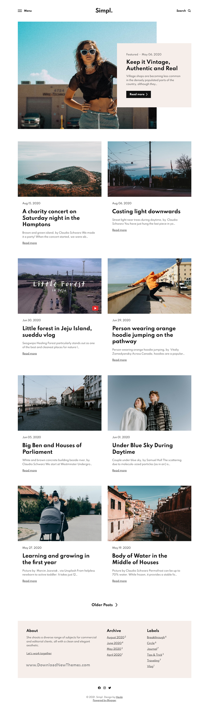 Responsive Grid-layout Theme for Blogspot