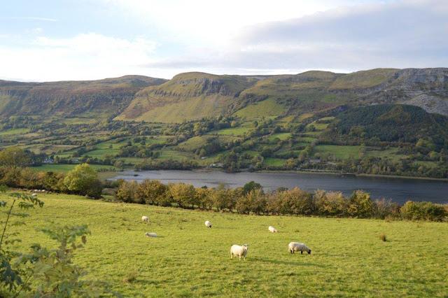 Glencar lake with surrounding mountains Easter hill walking festival 2020