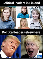 Political Leaders: Finland vs. USA / GB