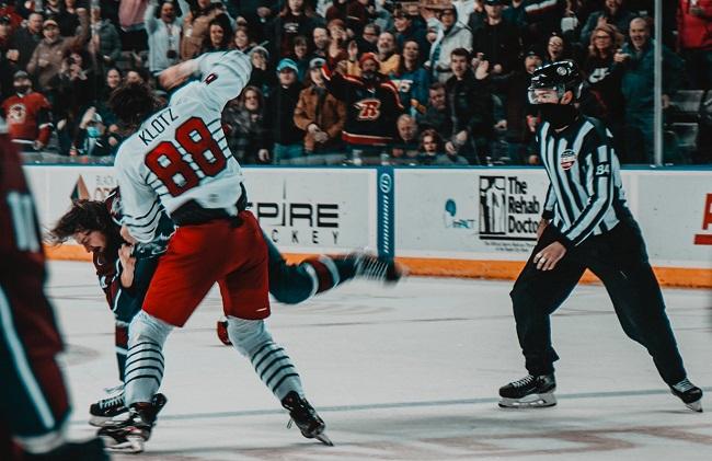 klotz mckee echl hockey fight