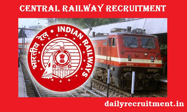 Central Railway Recruitment for Junior Technical Associates Posts 2020