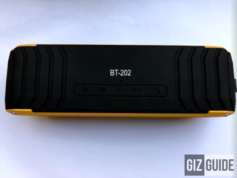 Control buttons of the Kevler BT-202