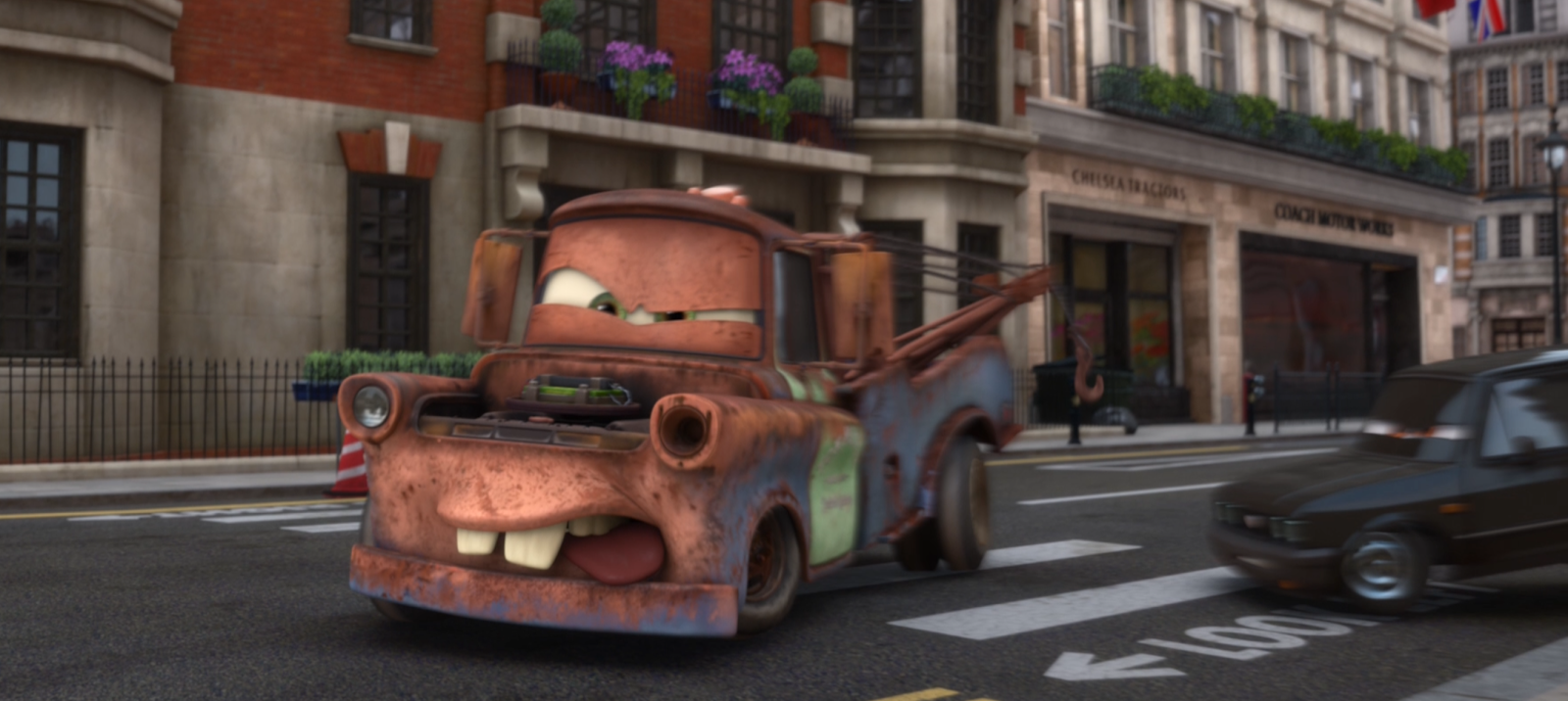 Cars 2 Fighting Face Mater
