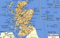 Mapa de Escocia