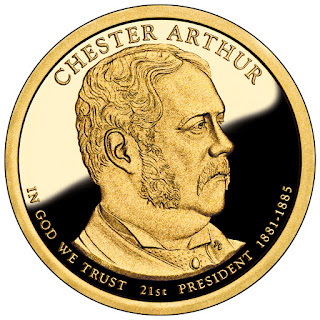 Chester Arthur 2012 US Presidential One Dollar Coin