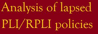 Analysis of lapsed PLI RPLI policies