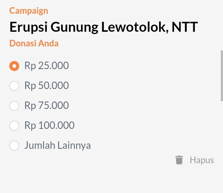 Donasi buat erupsi gunung Ili Lewotolok