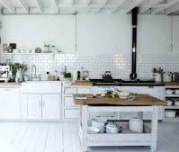 Nifty White Kitchen Floor Idea