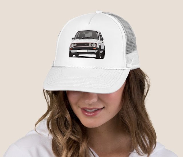 White VDUB Golf GTI cap - trucker hat
