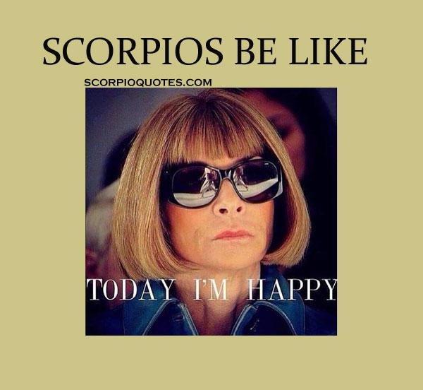 scorpio be like meme