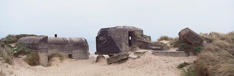 Photographie de Christophe Daguet d'un blockhaus en Normandie