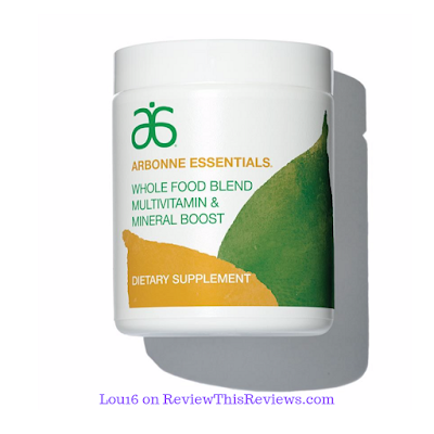"Arbonne's whole food multi vitamin & mineral supplement in powder form ""dissolvable multi vitamin"""
