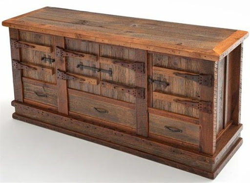 reclaimed wood sideboard buffet