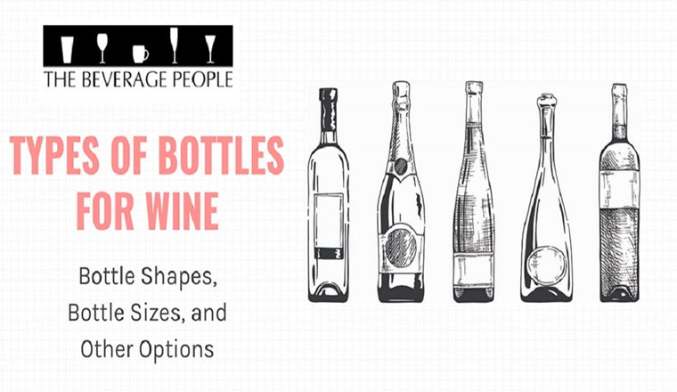 Types of Bottles for Wine - Bottle Shapes, Bottle Sizes and Other Options #Infographic
