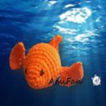 patron gratis pez amigurumi