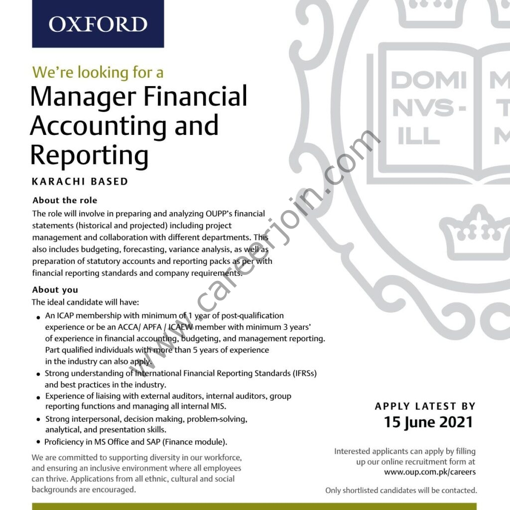 https://oup.com.pk/careers Jobs 2021 - Oxford University Press Pakistan OUP Jobs 2021 in Pakistan