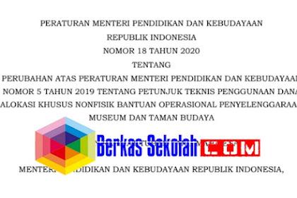Permendikbud Nomor 18 Tahun 2020 tentang Penggunaan DAK Non Fisik BOP Museum dan Taman Budaya