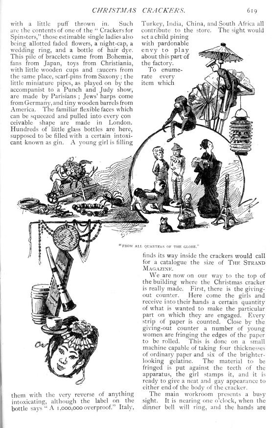 Christmas cracker contents from around the world - Strand Magazine  - Published December 1891