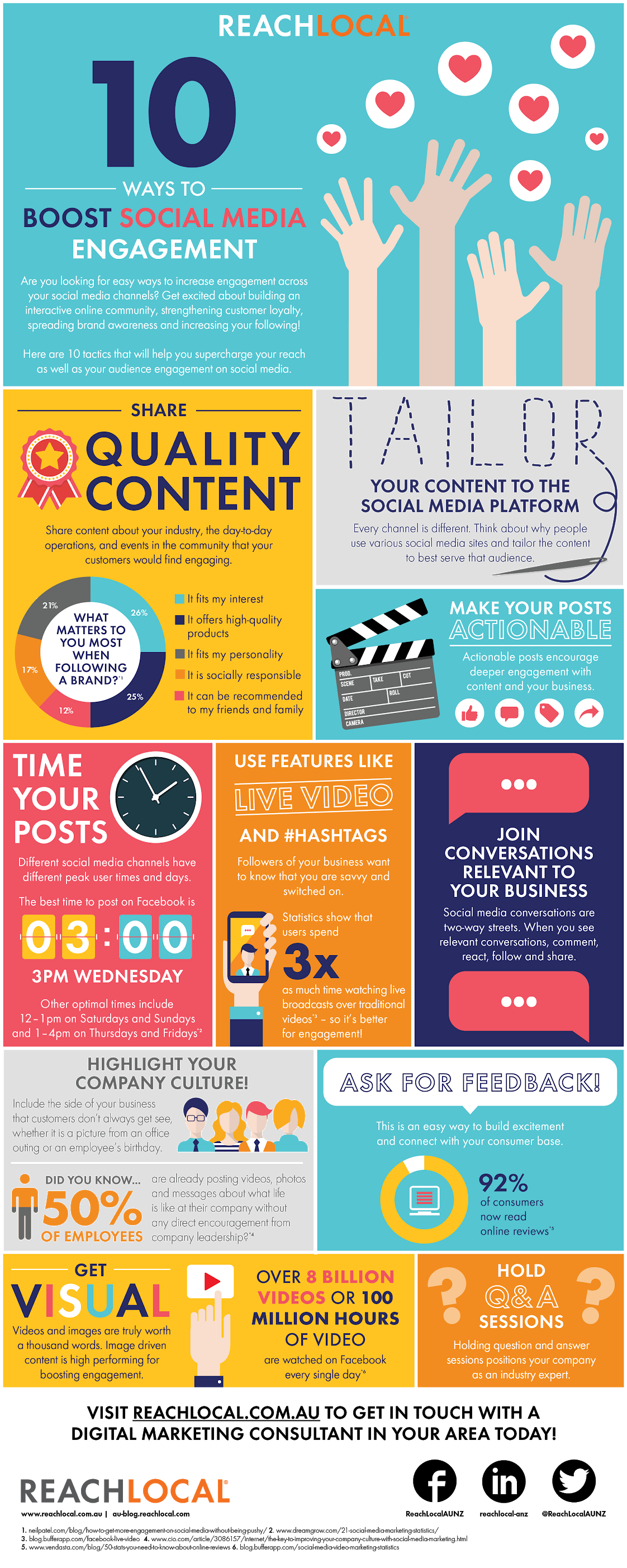10 Ways to Boost Social Media Engagement #infographic