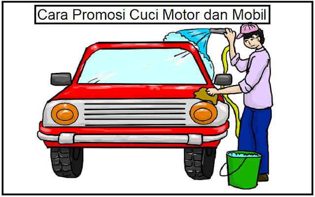 promosi cuci motor dan mobil