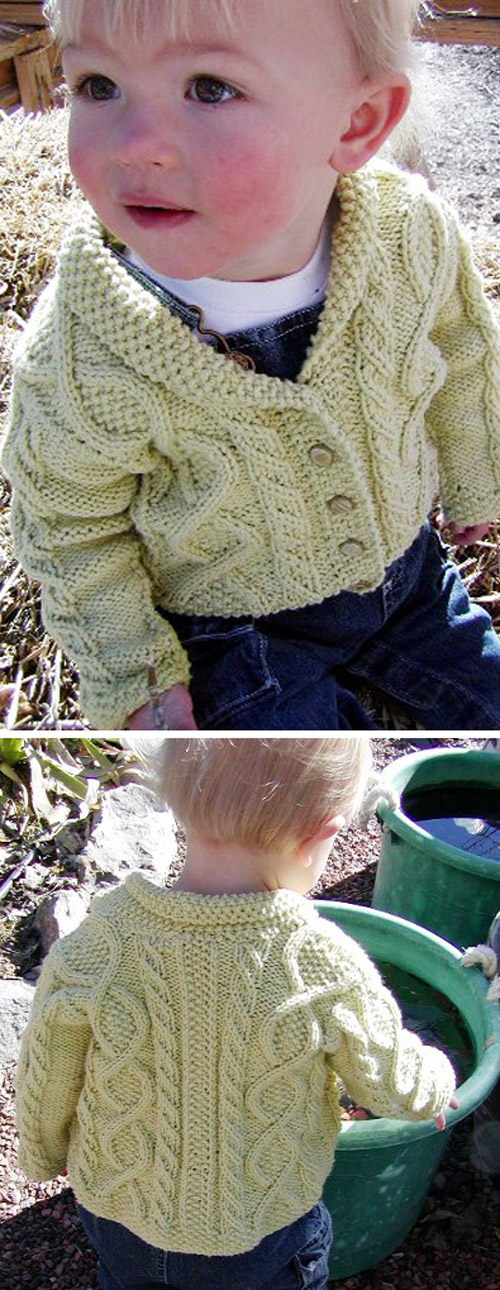 Trellis Baby Sweater - Free Knitting Pattern