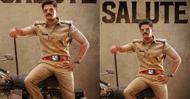 Dulquer as a policeman; Salute first look.