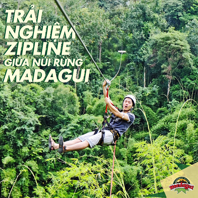 Trải nghiệm trò chơi mạo hiểm tại khu du lịch Madagui